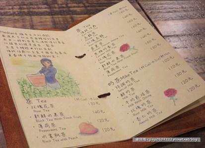 发现菜单上的手绘图好美哦!手写的字体看起来也好舒服