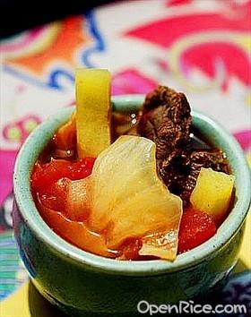 番茄牛肉燉包心菜