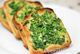 香菜蒜烤麵包