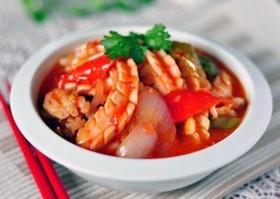 甜辣醬魷魚