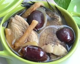 玉竹紅棗生魚湯