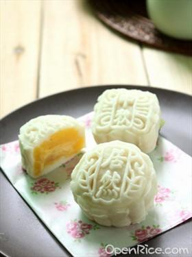 榴蓮奶黃冰皮月餅