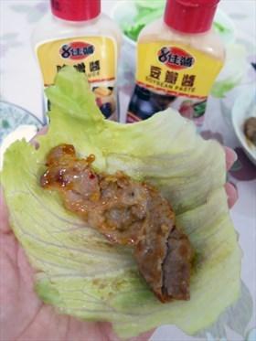 味噌豆瓣生菜包肉