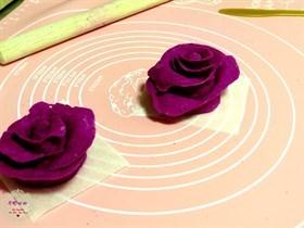 火龍果玫瑰造型饅頭