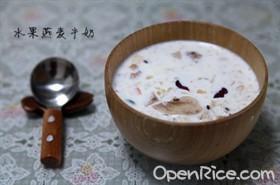 水果燕麥牛奶