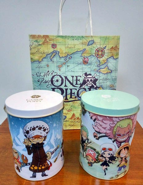 CP航海王裹糖爆米花鐵罐